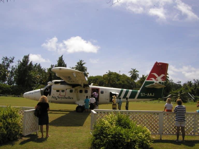 Les vols régulier d'Air Seychelles, au départ de Denis Island.
