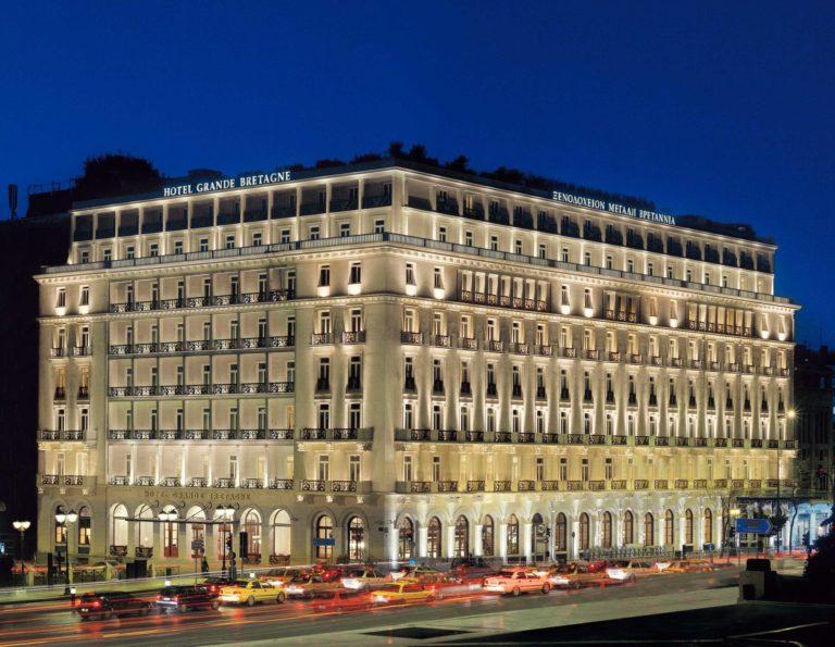 L'hôtel Grande Bretagne à Athènes. Le must! Il a été entièrement rénové à grands frais