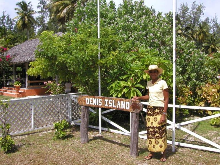 L'arrivée à Denis Island, Seychelles.